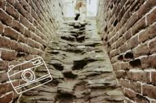Treppenstufen an der Chinesischen Mauer