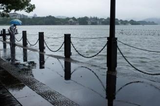 Hangzhou: Es regnet