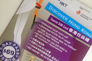 Touristen-SIM-Card in Hongkong