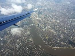 Im Landeanflug auf London