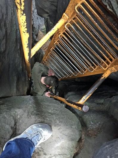 Abstieg vom Sachsenstein