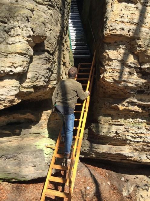 Aufstieg auf den Sachsenstein