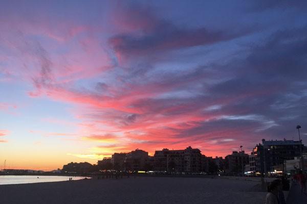 Sonnenuntergang am Ballermann