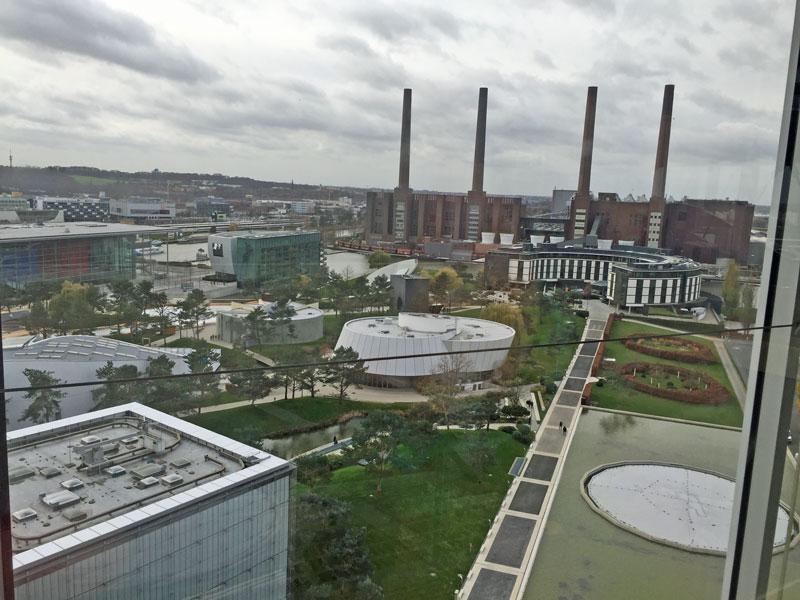 Autostadt Wolfsburg von oben