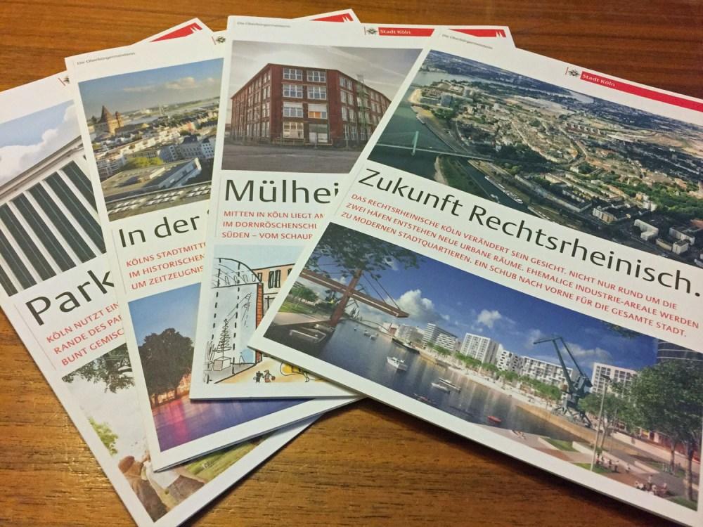 Infobroschüren zur Entwicklung Kölns
