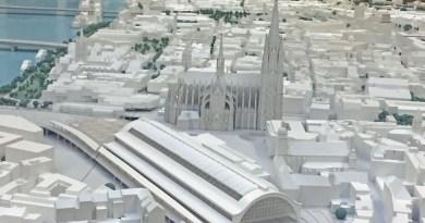 Dom und Hauptbahnhof im Stadtmodell