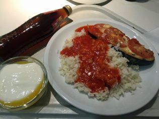 Aubergine mit Reis