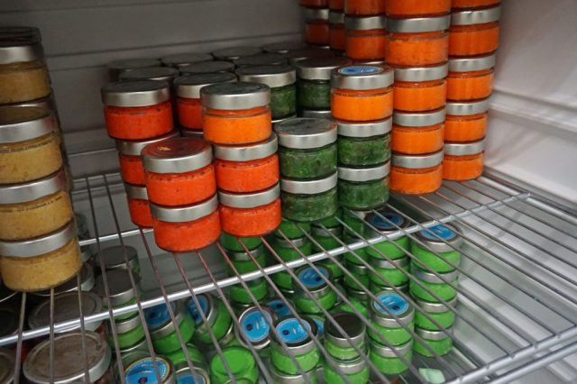 Orange, gelb oder grün: Kaviar