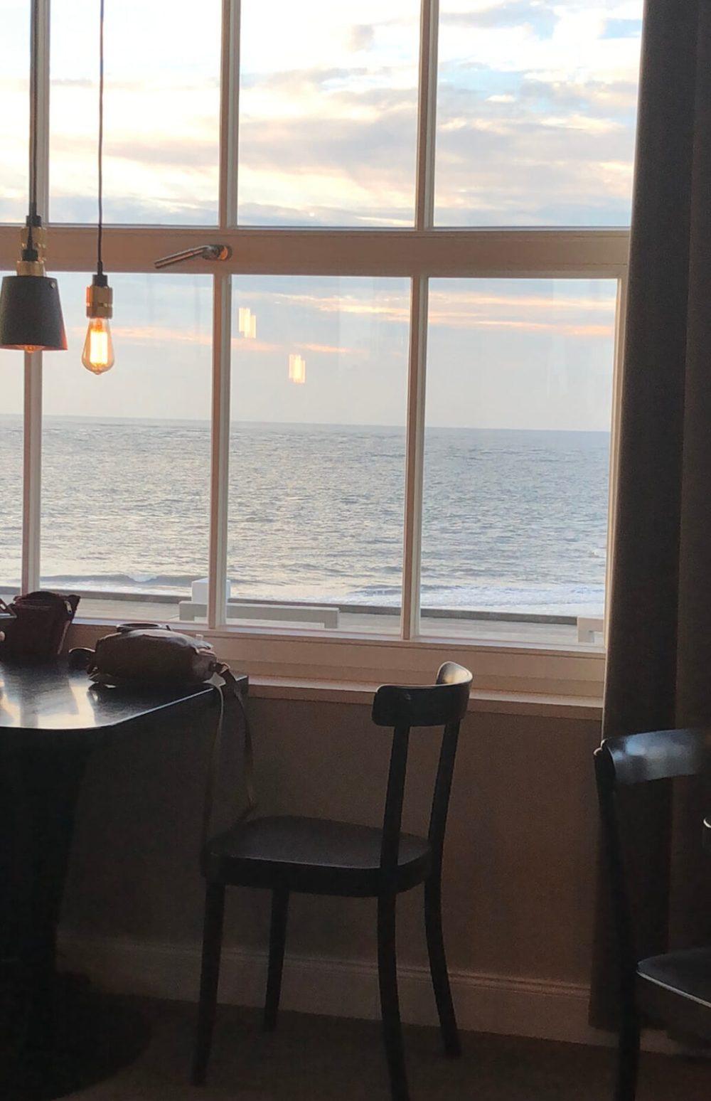 Blick aus dem Café Marienhöhe auf die Nordsee