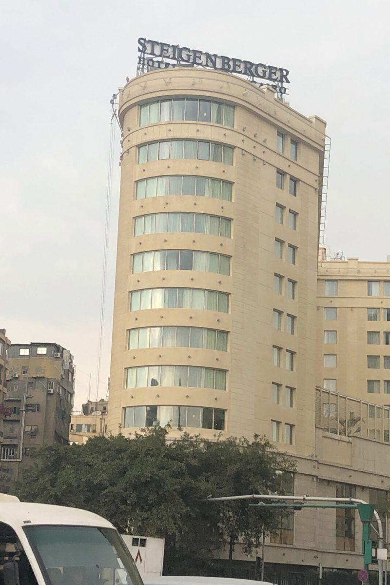 Das wäre unser Hotel am Tahrir-Platz gewesen