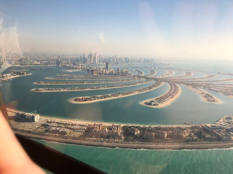 Hubschrauberrundflug in Dubai: Palmeninsel