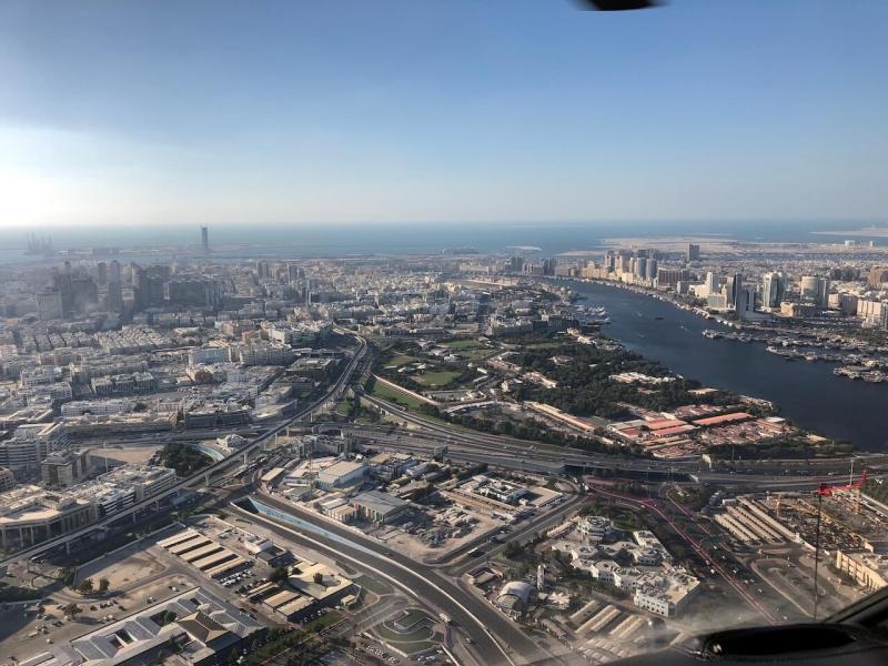 Hubschrauberrundflug in Dubai: Dubai Creek