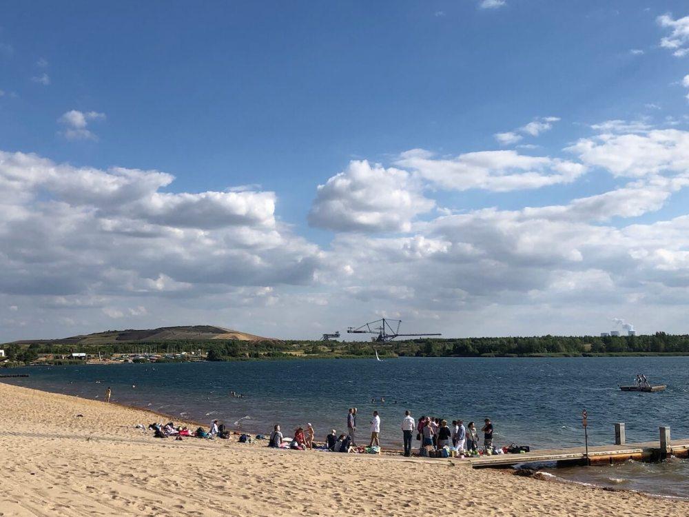 Markkleeberg See mit Kohlebagger