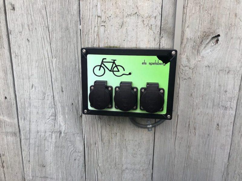 Dreiländereck E-Bike-Steckdosen