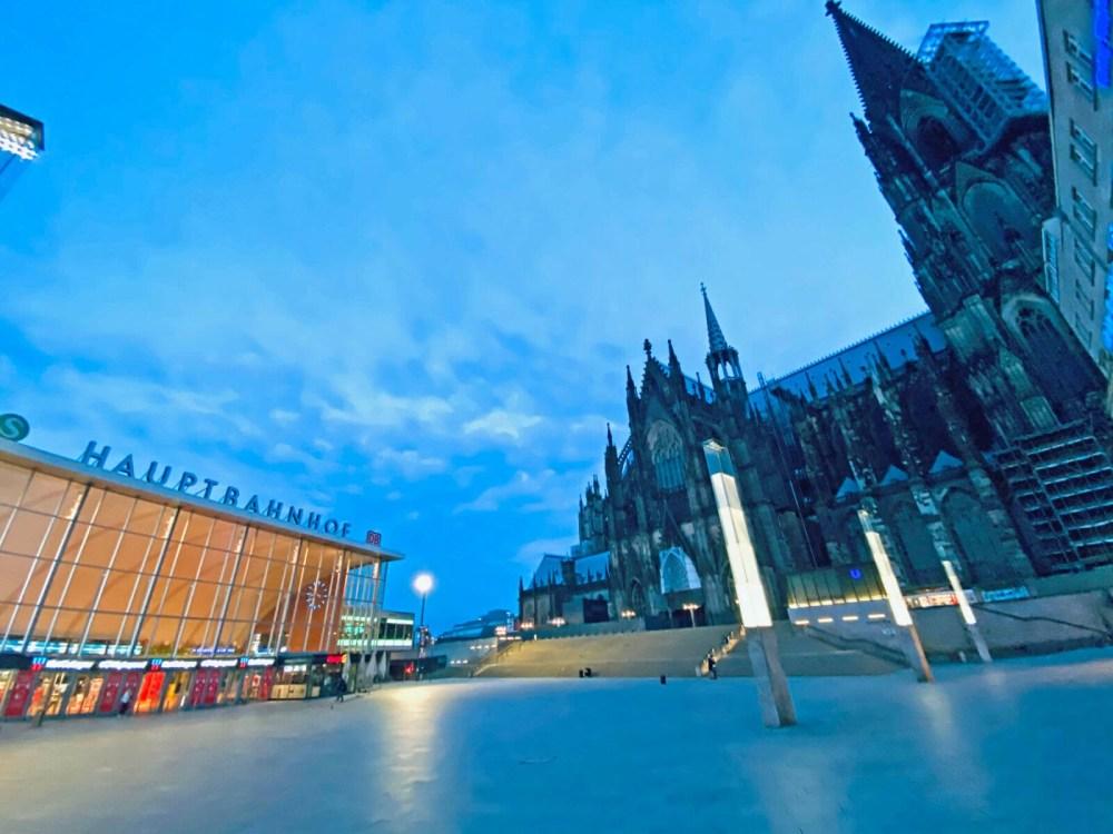Ausgangssperre in Köln: zwischen Hauptbahnhof und Dom