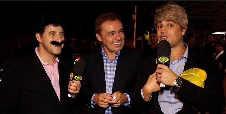 Gugu entre os humoristas Eros Prado e Rodrigo Vesgo. Foto: Divulgação/Assessora de Comunicação