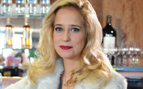 Paloma Duarte durante a novela Máscaras (Foto: Michel Ângelo/TV Record)