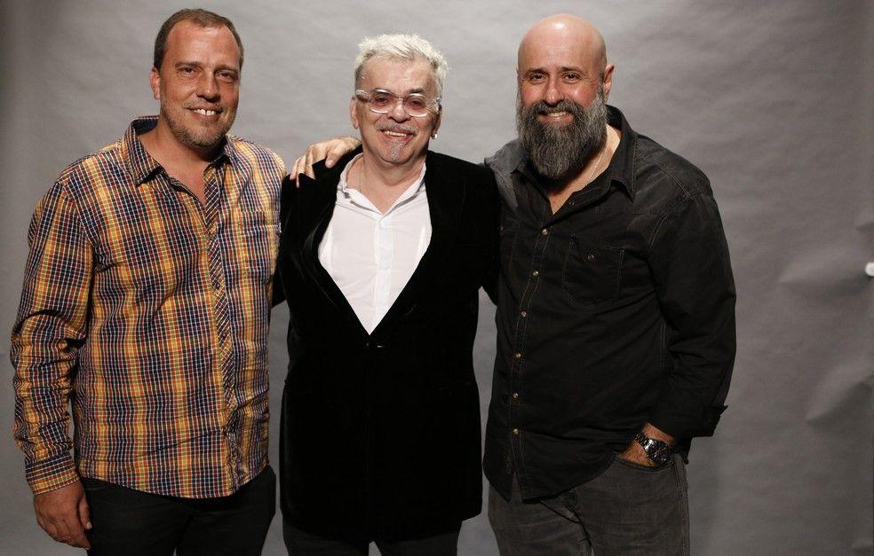 Andre Felipe Binder, Walcyr Carrasco e o diretor artístico Mauro Mendonça. Foto: TV Globo