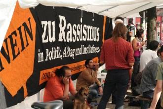 Nein zu Rassismus banner
