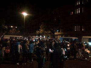 Photo by Ibo Che - Protest outside the police station 15.10