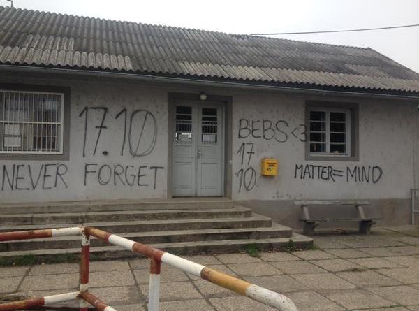 Graffiti at Hungary's border