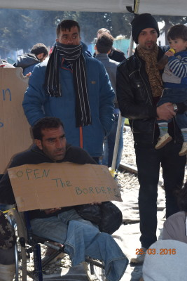 Refugee protest in Idomeni