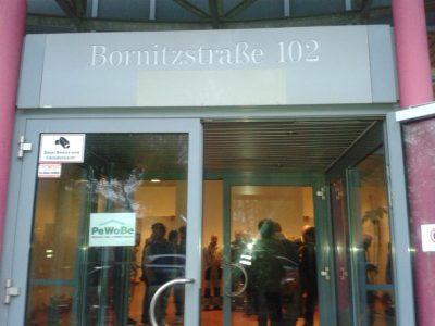 Refugee Protest in Bornitzstr. Berlin