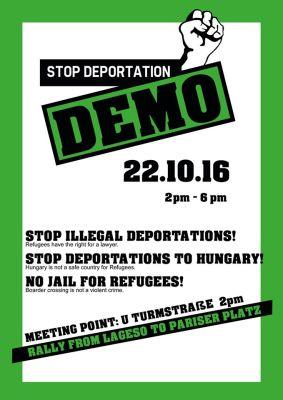 Stop Deportation Demo am 22.10.2016