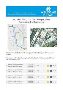 Welcome2Stay Flyer zur Anreise