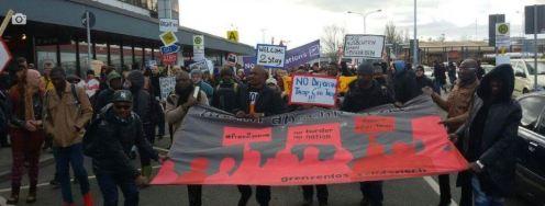 Schönefeld Protest