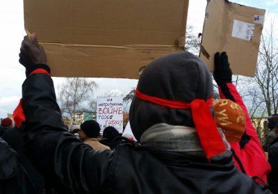 Refugee protest in Bamberg Januar 2018