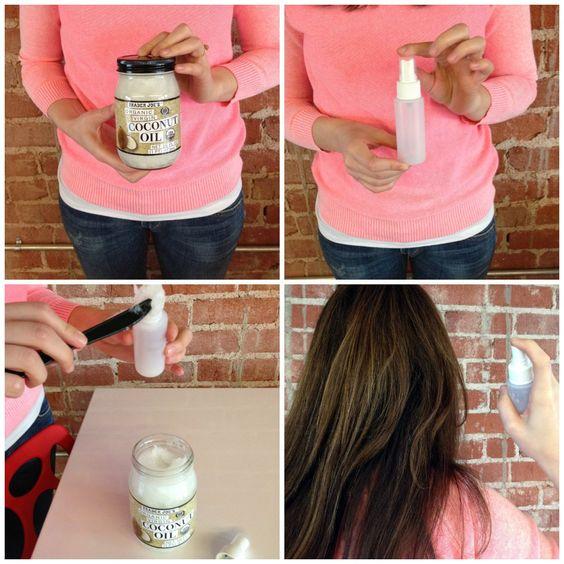 Coconut hair spray