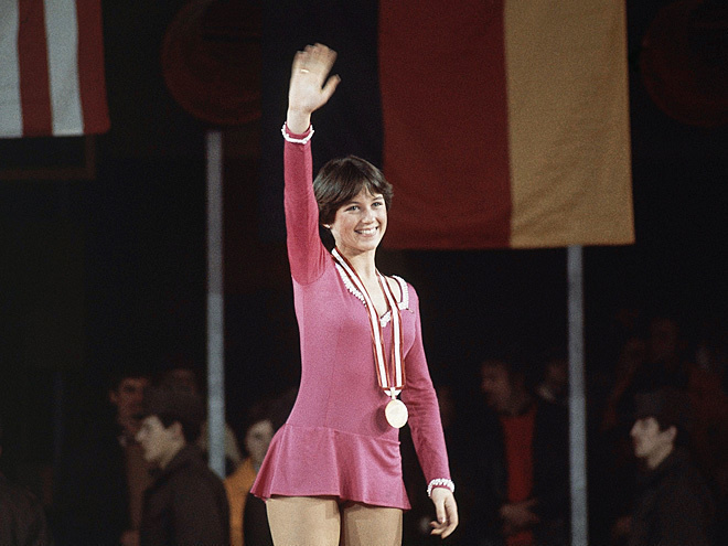 Recognize this It Girl from the 1976 Winter Olympic? Dorothy Hamill popularized the wedge haircut after winning gold at age 19.