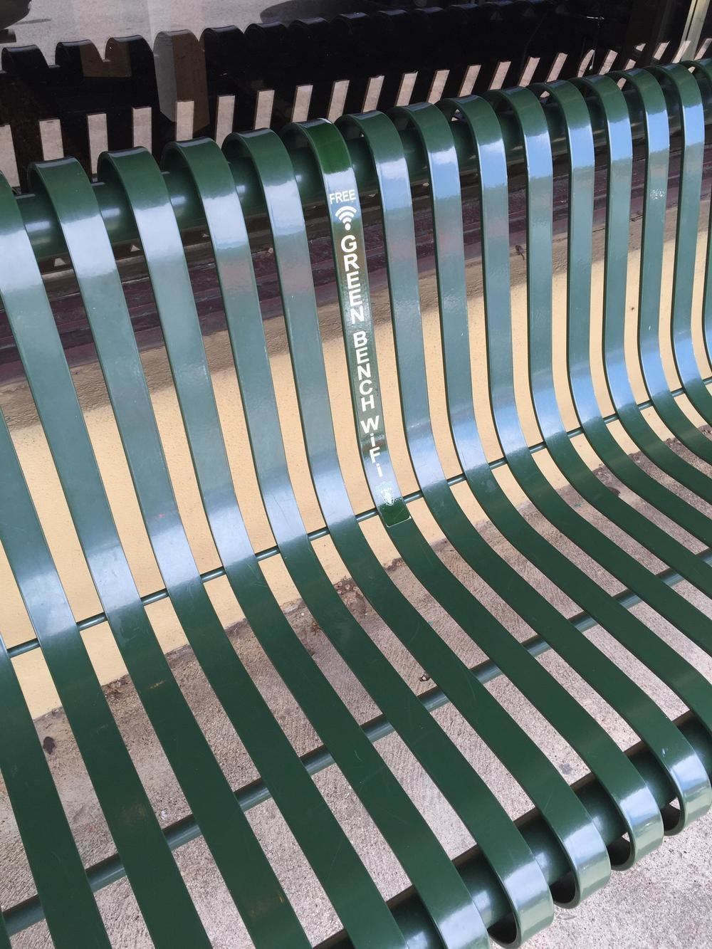The coolest park bench for its WiFi capabilities.