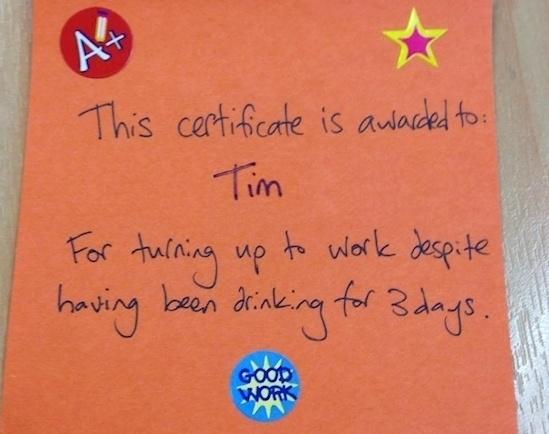Good work Tim!