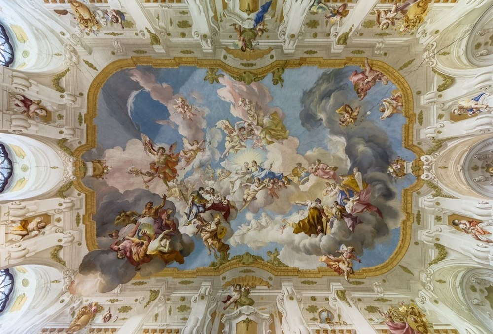 Ceiling fresco at Seitenstetten Abbey, Austria.