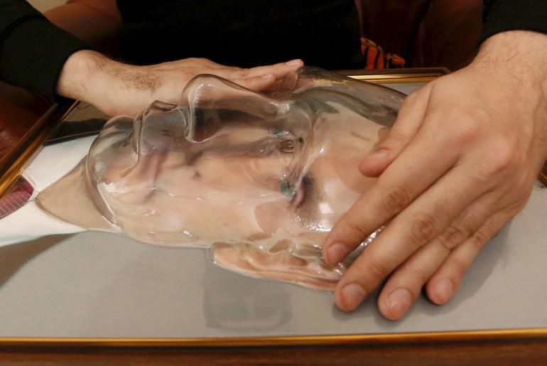 A 3D portrait designed for the blind to feel what Russian president Vladimir Putin looks like.