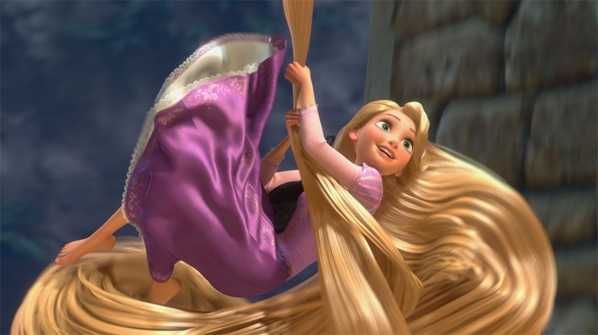 "The results of one study revealed that ""Rapunzel's hair could easily support the weight of a man."""