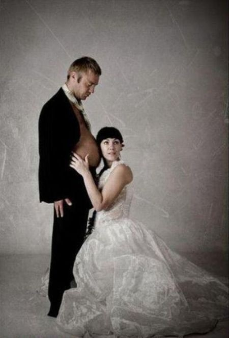 Is the groom pregnant?