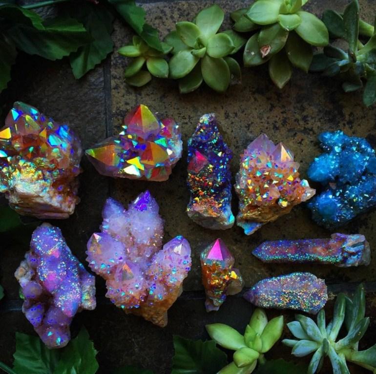 The beautiful spirit quartz stones.