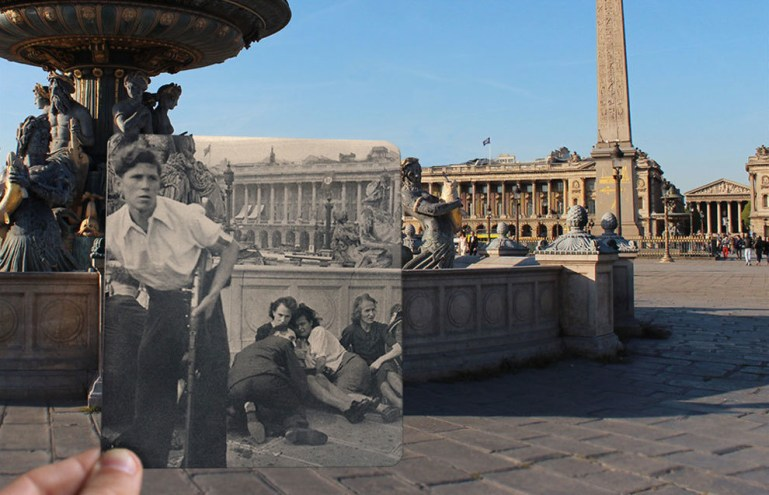 And finally, another thoughtful scene from the Place de la Concorde.