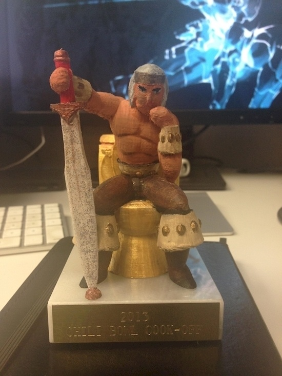 Who care about the chili cook-off, I just want this trophy.