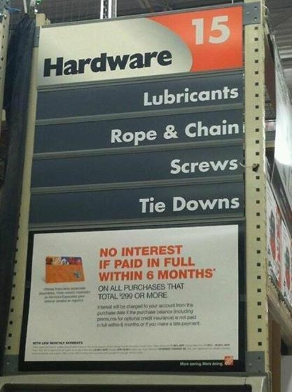 50 shades of Home Depot.