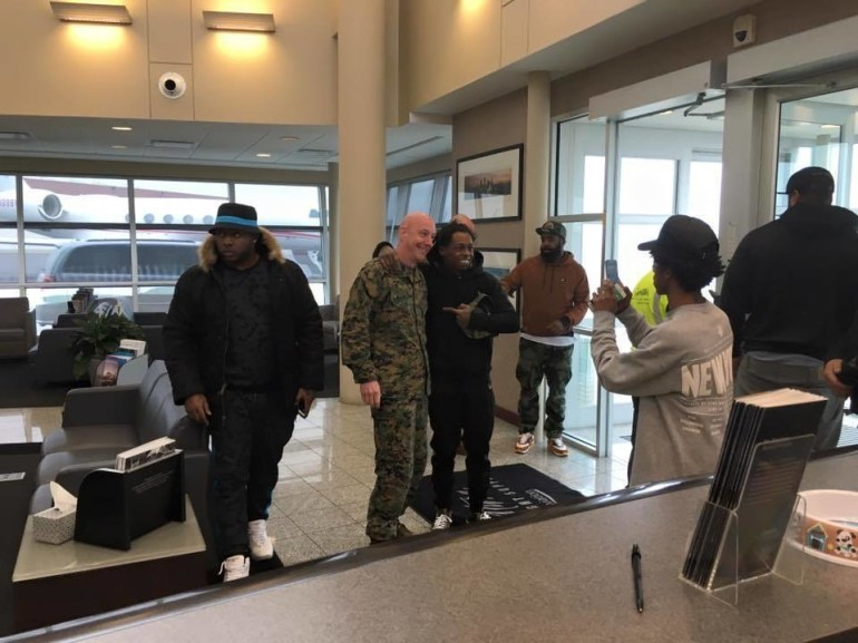 And finally, even rapper Lil Wayne was serving kindness recently: He stopped his plane and delayed his trip so he could do a meet and greet with some traveling soldiers.
