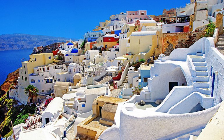 Walking Around Santorini Island, Greece