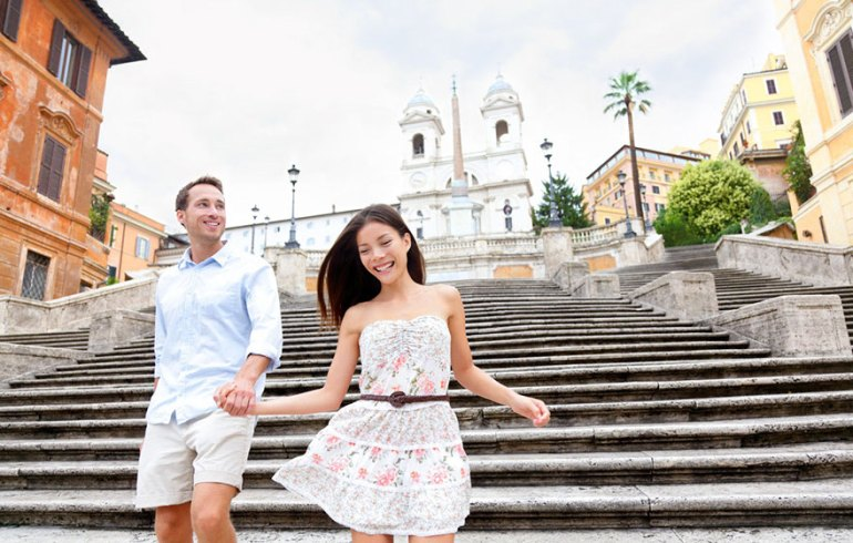 Hanging Out At The Spanish Steps In Italy With Your Sweetheart