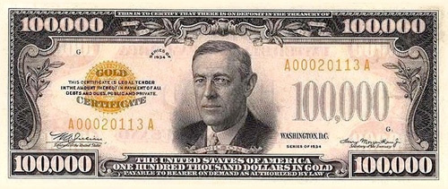 The largest US bill ever printed by The Bureau of Engraving and Printing is the $100,000 Gold Certificate, printed in 1934.