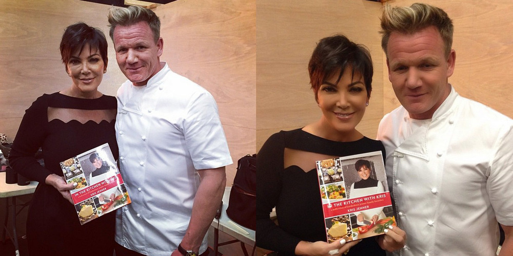 Kris Jenner & Gordon Ramsay with and without wrinkles. Wrinkles translate as experience to us, we don't mind them!