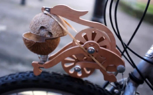 This bike attachment makes your ride sound like a horse clopping down the street. In other words, %100 necessary.
