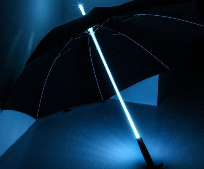 A Blade Runner Light Saber LED Flash Light Umbrella seems necessary for your survival.